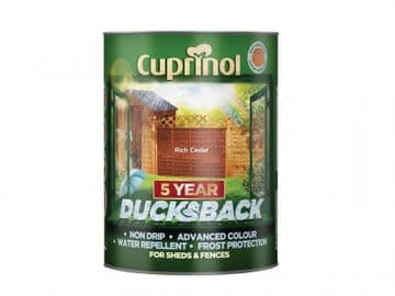 Ducksback 5 Year Waterproof for Sheds & Fences Rich Cedar 5 litre